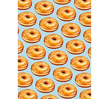 Glazed Donut Pattern Photographic Print