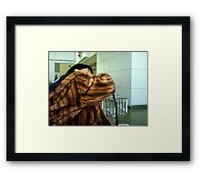 AIRPORT PLANE CHECK IN  Framed Print