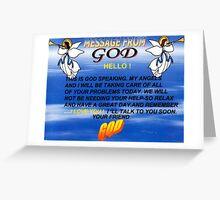 god speaking Greeting Card
