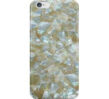 Mother Of Pearl White Triangle Tiled  iPhone Case/Skin
