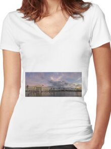BACOLOD CITY - PANORAMA Women's Fitted V-Neck T-Shirt