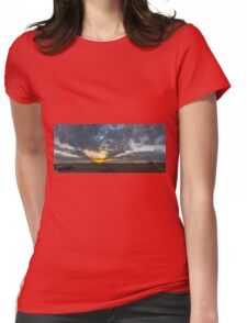 SUNSET - PANORAMA Womens Fitted T-Shirt