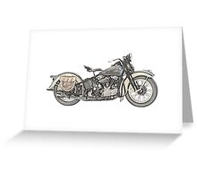 1936 Harley Davidson Motorcycle Greeting Card