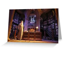 A wise old wizard, Albus Dumbledore Greeting Card