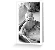 Bathtime on the Farm Greeting Card