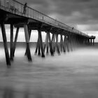 Hermosa Pier by Jeffrey  Sinnock