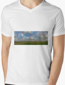 FOOTBALL FIELD - PANORAMA Mens V-Neck T-Shirt