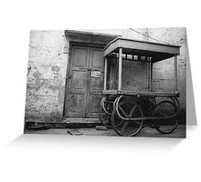 Portable Shop BW Greeting Card