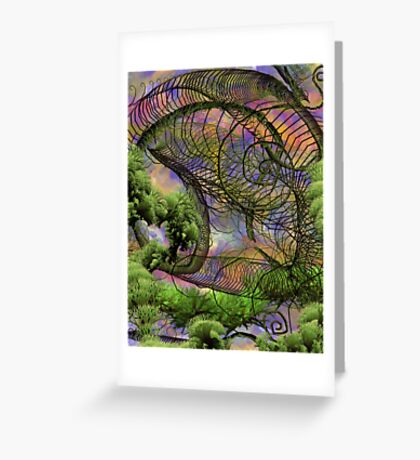 The Knander Forests Of Planet Crowlar Greeting Card