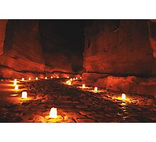 Night Petra Photographic Print