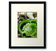 Mushrooms and Peppers Framed Print