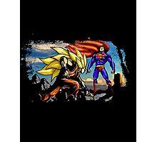 Goku Vs Superman - Epic Funny Battle  Photographic Print