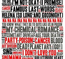 MCR Word Cloud by HylianHogwarts