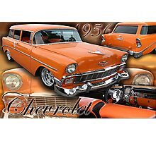 1956 Chevrolet Stationwagon Photographic Print