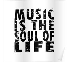 Music Is The Soul Of Life Poster