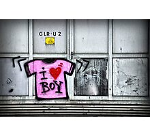 I heart boy Photographic Print