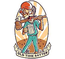 Old Time Batter Photographic Print