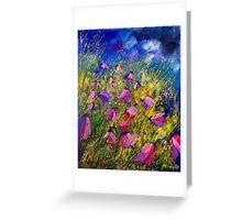 purple wild bellflowers Greeting Card