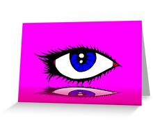 THE LASHES Greeting Card