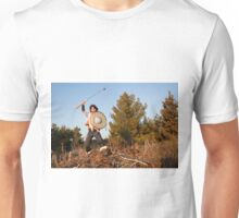A wild Barbarian Attack with a Flail.  Unisex T-Shirt