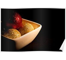 Chocolates bubbles in foil Poster