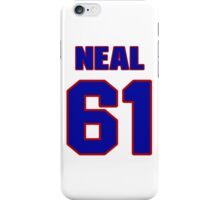 National football player Steve Neal jersey 61 iPhone Case/Skin
