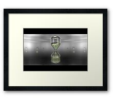 Hourglass - An Homage to Computers Framed Print