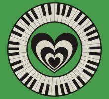 Heart & Keyboard  Baby Tee