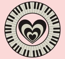 Heart & Keyboard  Kids Clothes