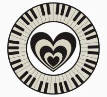 Heart & Keyboard  Kids Clothes