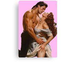 Romance novel Couple clinch Canvas Print