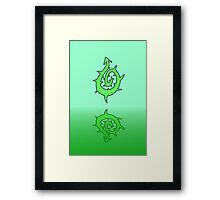 THE DRAGONS TAIL Framed Print