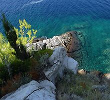 Adriatic coast blue green sea by Clayton Suares