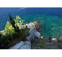 Adriatic coast blue green sea Photographic Print