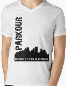 Parkour The world is your playground Mens V-Neck T-Shirt