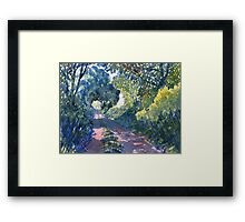"""Hockney's Tunnel of Trees"" Framed Print"