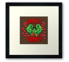Break-It Banner Framed Print