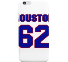 National football player Lin Houston jersey 62 iPhone Case/Skin