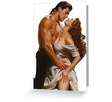 Romance Novel Couple Pose Greeting Card