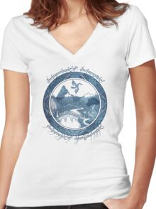There And Back Again Women's Fitted V-Neck T-Shirt