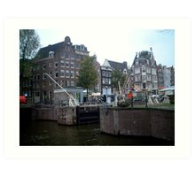 Canal Lock, Amsterdam Art Print