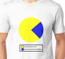 Pac Man pie chart Unisex T-Shirt
