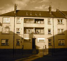 Tenement Buildings in Logie, Aberdeen by Matthew Colvin de Valle