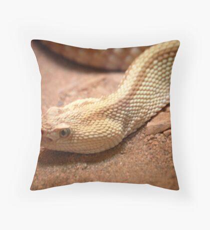 Rattler head Throw Pillow