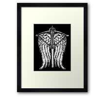 Angel Wings and Crossbow (Dirty) Framed Print