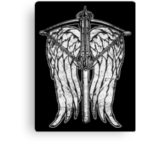 Angel Wings and Crossbow (Dirty) Canvas Print