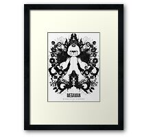 Megaman Nintendo Geek Psychological Diagnosis Ink Blot Framed Print