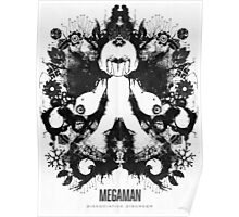 Megaman Nintendo Geek Psychological Diagnosis Ink Blot Poster