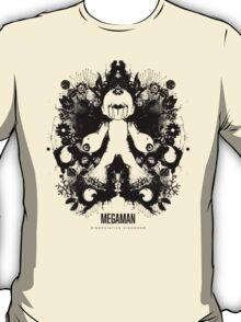 Megaman Nintendo Geek Psychological Diagnosis Ink Blot T-Shirt