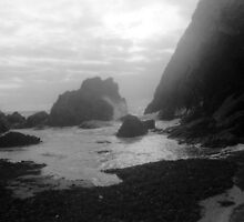 Waves at Soar Mill Cove by SilkyAlien